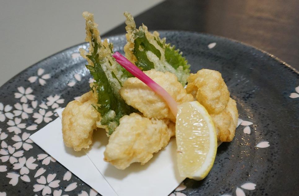 博多割烹 州二郎 天ぷら料理 白子 紫蘇